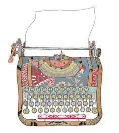 typewriter, pattern