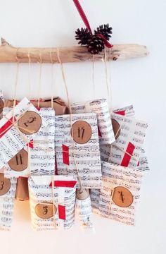Funky Sunday: Mon calendrier de l'Avent DIY - Avent Calendar, Christmas, Noel, déco maison, home decor, tuto, tutorial, paquets cadeaux, adults, grownups, idée, crafts, holidays Countdown Calendar, Advent Calendar, Merry Christmas, Christmas Ideas, Gift Wrapping, Homemade, Holiday Decor, Crafts, Sunday
