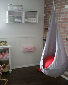 Bought two of these swings for the boys Christmas this year to go in the playroom.