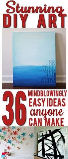 AWESOME roundup of inspiring creative DIY art ideas! SO many good ones!: