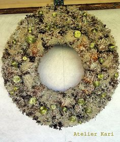Wreaths made of lichen from Norway.