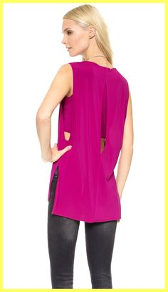 Helmut Lang Faint Sleeveless High Low Top Fuchsia Pink. Free shipping and guaranteed authenticity on Helmut Lang Faint Sleeveless High Low Top Fuchsia Pink at Tradesy. New With Tag $265 Helmut Lang Faint Sleeveless Str...