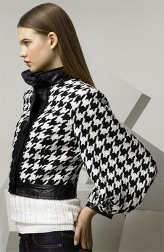 D Dolce & Gabbana Balloon Sleeve Houndstooth Jacket available at #Nordstrom