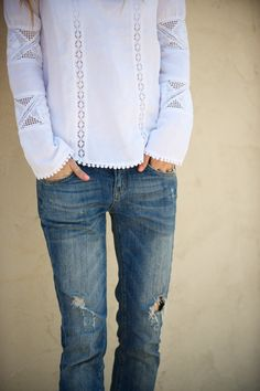 love the lace with jeans