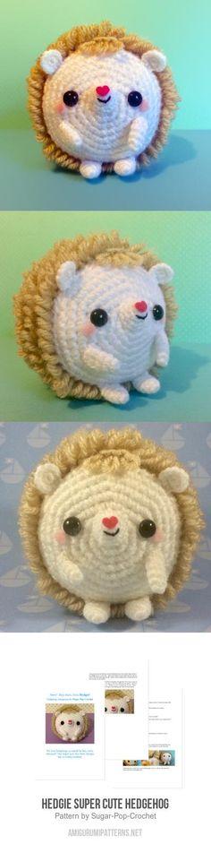 Hedgie Super Cute Hedgehog Amigurumi Pattern