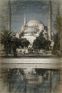 Istanbul's iconic Blue Mosque. #Istanbul #BlueMosque #WallArt