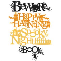 Daily Freebie 10-6-14: Miss kate Cuttables--Halloween Titles SVG scrapbook title SVG cutting files crow svg cut file halloween cute files for cricut cute cut files free svgs