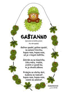Jesenná pieseň pre deti - Gaštanko Diy And Crafts, Crafts For Kids, Autumn Activities For Kids, Grandparents Day, Little Girl Dresses, Holidays And Events, Fall Halloween, Projects To Try, Preschool