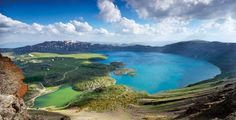 Nemrut Crater Lake, Bitlis, Turkey This lake is the world's second biggest crater lake (photo by Turgut Tarhan)