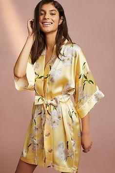 Violet & Wren Signature Silk Kimono Robe robe New Fall Clothing for Women Kimono Lingerie, Jolie Lingerie, Silk Robe Long, Silk Kimono Robe, Cute Sleepwear, Sleepwear Women, Pretty Lingerie, Beautiful Lingerie, Lingerie Bonita