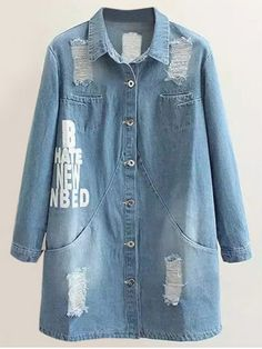 GET $50 NOW | Join RoseGal: Get YOUR $50 NOW!http://www.rosegal.com/plus-size-outerwear/plus-size-letter-print-distressed-910820.html?seid=8811105rg910820