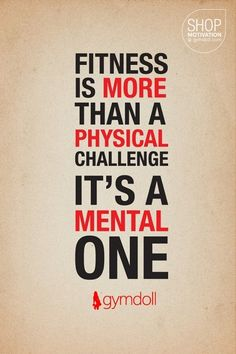 True - I have to make it a habit in order to overcome the mental challenge.