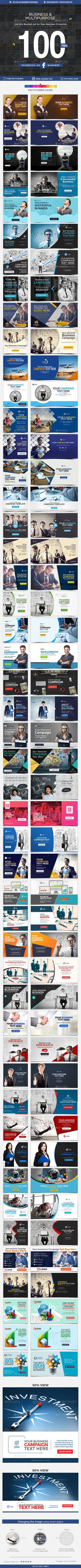 Facebook Ad Banners - 50 Designs -  PSD Template • Download ➝ https://graphicriver.net/item/facebook-ad-banners-50-designs-2-sizes-each/17094322?ref=pxcr