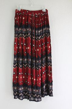 long hippie maxi skirt with multiple tribal patterns by lerobot