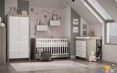 Pár pasztell szín segítségével másodpercek alatt lányos szobát lehet kialakítani a szürke bútorokból. Hogy tetszik? Design 3d, Cribs, Bed, Furniture, Home Decor, Room Paint, Cots, Decoration Home, Bassinet