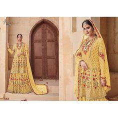 f7fa6ccd51 Shree Fabs Shehnai Gold Bridal Vol 2 Suits Sharara Suit, Salwar Kameez,  Traditional Looks
