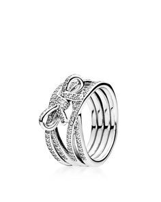 Pandora Ring - Sterling Silver & Cubic Zirconia Delicate Sentiments