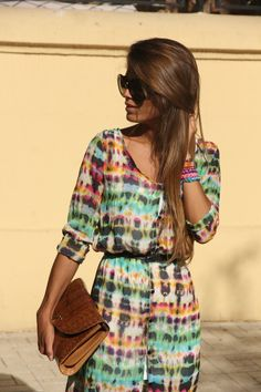 Have a little more Boho style?  This tie-dye dress is so casually chic.