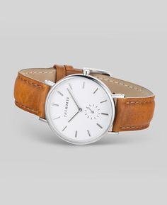 Silver / Tan Leather