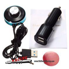 21,3€ - ENVÍO SIEMPRE GRATUITO - Manos Libres con Bluetooth 4.0 AUX Receptor de Audio Cargador USB Doble - TUTIENDARACING