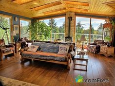 living room, rustic