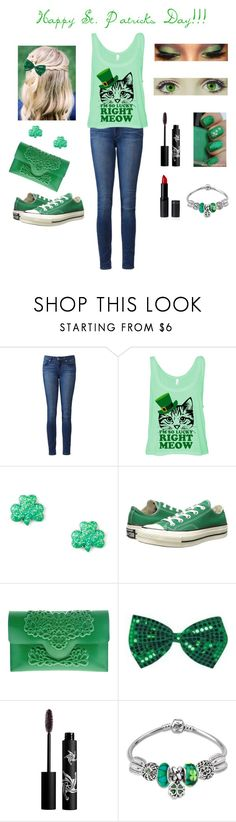 """""""Happy Early St. Patricks Day!!!"""" by avellines ❤ liked on Polyvore featuring Paige Denim, Converse, MeDusa and Rouge Bunny Rouge"""