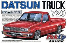 DATSUN Pick Up Truck 720 Lowrider plastic model 1/24 nissan #AoshimaMiracleHouse