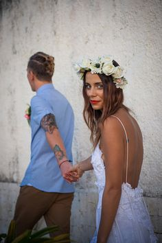 Stunning low back white lace boho beach wedding by Graceloveslace, $1950.00