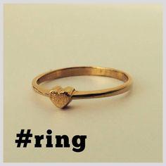 #anillo #ring #gold #oro #orolaminado #corazón  https://www.facebook.com/AddictStorePUE