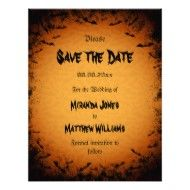 save the date evite for halloween party | Halloween Save the Date invitation with bats invitation