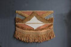 Large Don Freedman Fiber Textile Art Wall by GallivantingGirls
