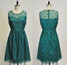 PROVENCE Jade : Jade green lace dress sweetheart by MfandjDesigns Lace Burgundy Dress, Green Lace Dresses, Yellow Lace, Purple Lace, Pretty Dresses, White Lace, Chiffon, Casual Dresses, Bridesmaids