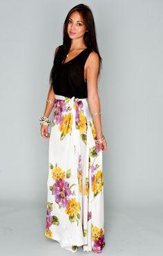 Emoji Salsa Skirt ~ Floating Floral ~ Show Me Your Mumu