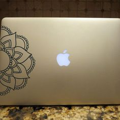 Just Breathe Decal Floral Decal Custom Vinyl Computer Laptop Car - Custom vinyl decals for macbook pro