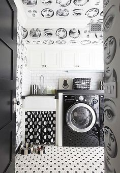 Tema E Variazioni is one of the most famous designs by Piero Fornasetti, Wallpaper