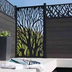 80 Stunning Privacy Screen Design for Modern Home Screen Design, Backyard Patio, Backyard Landscaping, Outdoor Spaces, Outdoor Living, Privacy Fence Designs, Garden Screening, Decorative Screens, Iron Gates