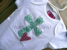 Cross+&+Heart+Applique+Tshirt+by+FoxsYarnBarn+on+Etsy,+$14.00