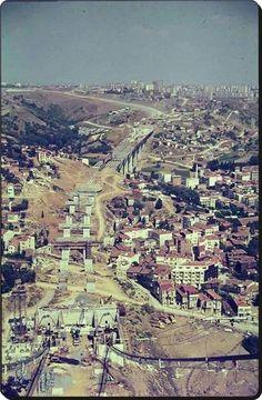Boğaziçi Köprüsü İnşaatı ve Zincirlikuyu - 1970