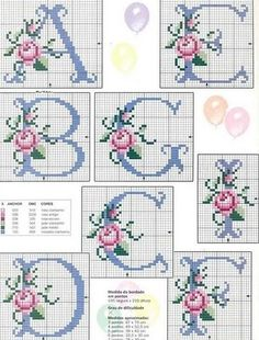Thrilling Designing Your Own Cross Stitch Embroidery Patterns Ideas. Exhilarating Designing Your Own Cross Stitch Embroidery Patterns Ideas. Cross Stitch Letters, Cross Stitch Charts, Cross Stitch Designs, Embroidery Alphabet, Ribbon Embroidery, Cross Stitch Embroidery, Beading Patterns, Embroidery Patterns, Stitch Patterns