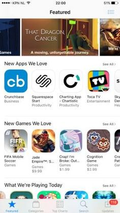 """Apple just featured Crap! I'm Broke under """"New Games We Love"""" in the US! :D"""