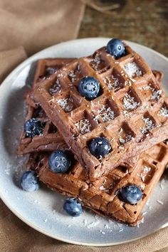 Crepes And Waffles, Breakfast Waffles, Pancakes, Breakfast Time, Waffle Recipes, Gourmet Recipes, Happy Foods, Eat Dessert First, Vegan Sweets