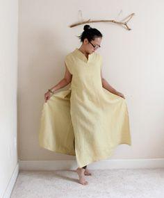 custom eco linen ao dai robe by annyschooecoclothing on Etsy,