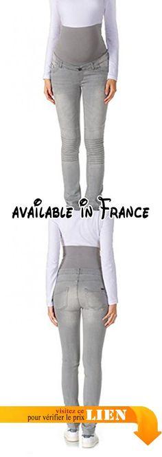 B00XA1LYAQ : Bellybutton Maternity MAYA - Hose Jeans - Slim Biker - Jeans - Maternité - Slim - Femme Gris (grey Denim Gray 0016) W36.