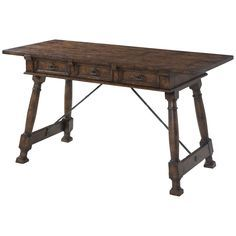 Theodore Alexander Victory Oak Occasion Writing Table