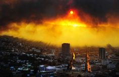 Massive fire blazing through Valparaiso, Chile.