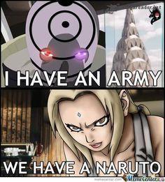Naruto > Army. #obito #tsunade