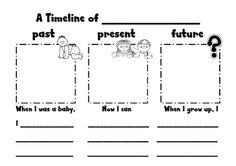 FREE past, present, future writing activity.    Australian curriculum history year 1 timeline