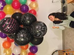 Birthday surprise idea...balloons everywhere #myfriendisacutie