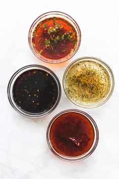 Four of the very BEST easy 5 ingrdient chicken marinades – honey chipotle, lemon herb, chili lime, and brown sugar garlic – are perfect for grilled or baked chicken! These are my very favorite 5 ingedient chicken mariandes! They are so easy with just five ingredients each, and five minutes or prep, and they make... Read More »