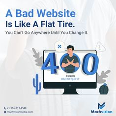 A bad website is like a flat tire. You can't go anywhere until you change it. Update your website TODAY! . . . . #websitedesign #websitedevelopment #websitelaunch #website #websitedevelopment #websiteredesignservices #websitedesigners #webdevelopment #websiterevamp #machvisionmedia #websitelaunch #digitalmarketing #seo #marketing #seoagency #digitalmarketingagencyseo Seo Marketing, Digital Marketing, Seo Agency, Flat Tire, Web Design Services, Print Ads, Web Development, You Changed, Service Design